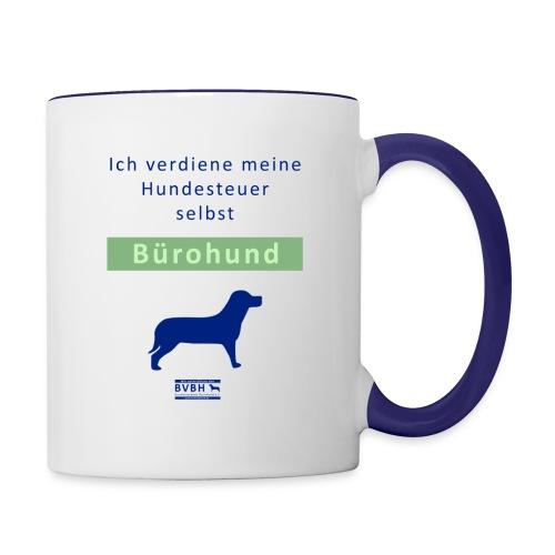 Becher: Bürohund - Ich verdiene meine Hundesteuer selbst - Tasse zweifarbig