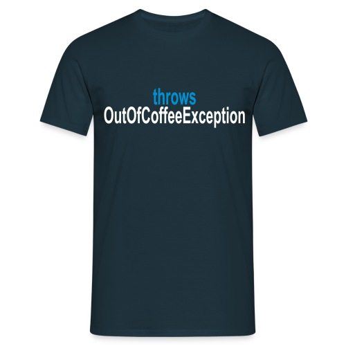Coffee Exception Männer T-Shirt - Männer T-Shirt