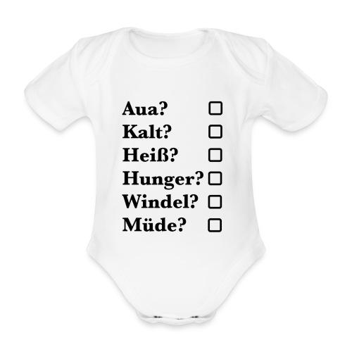 Baby Checklist - Baby Bio-Kurzarm-Body
