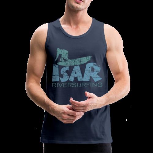 Isar Riversurfing Tank Top (Navy) - Männer Premium Tank Top