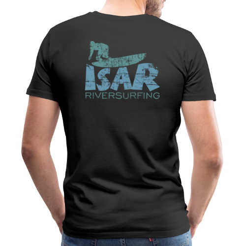 Isar Riversurfing T-Shirt (Schwarz) - Männer Premium T-Shirt