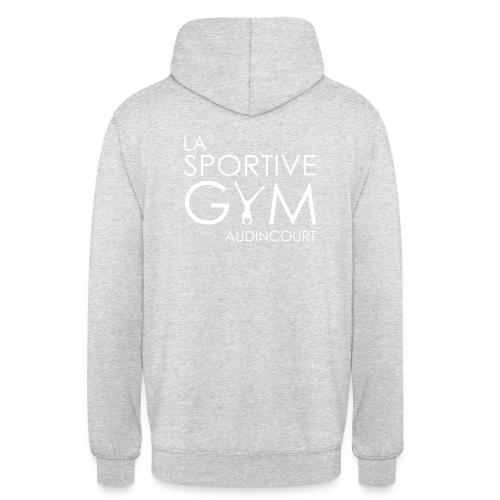 Sweat à capuche rouge La Sportive Gym Audincourt - Sweat-shirt à capuche unisexe