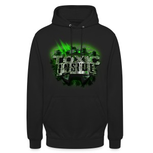 ToXic Inside Hoodie [Black] [Add Your Own Text] - Unisex Hoodie