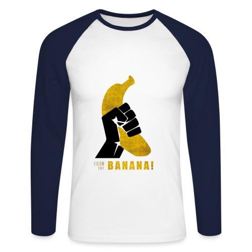 Tshit Banana - T-shirt baseball manches longues Homme