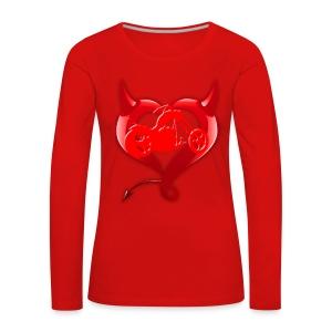 Devil Heart - Camiseta de manga larga premium mujer