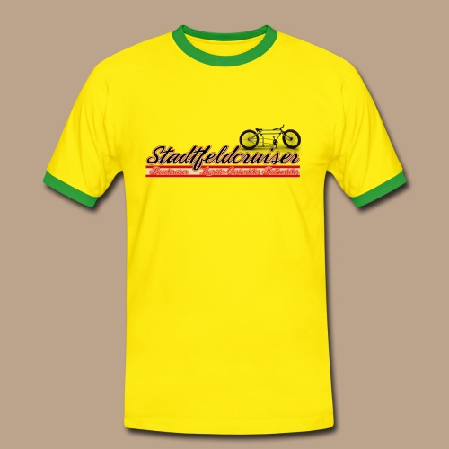 Stadtfeldcruiser Männer Kontrast T Shirt - Männer Kontrast-T-Shirt