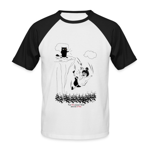 mémé orties - T-shirt baseball manches courtes Homme