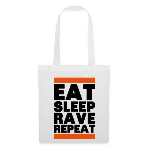 Eat sleep Rave Repeat 2.0 Tasche - Stoffbeutel