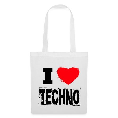 I Love Techno 2.0 Tasche - Stoffbeutel