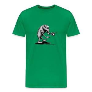 T-Shirt, mit verschlafenem Hempel und Kaffeetasse - Männer Premium T-Shirt