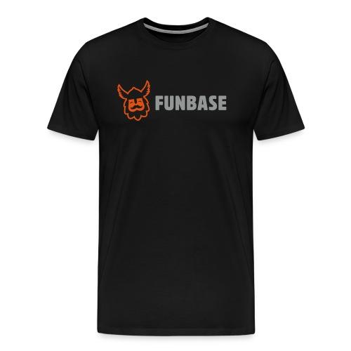 Funbase T-Shirt - Color logo on black - Men - Men's Premium T-Shirt