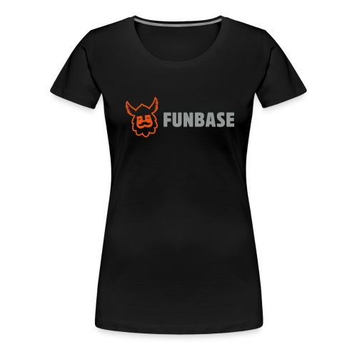 Funbase T-Shirt - Color logo on black - Women - Women's Premium T-Shirt