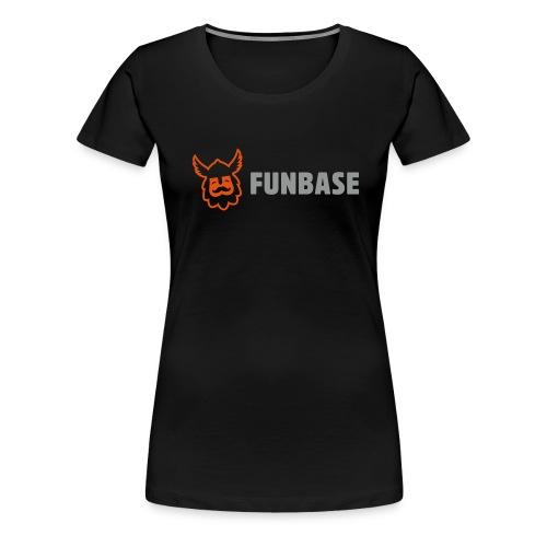 Funbase T-Shirt - Color logo on black - Women - Women's Premium T-Shirt