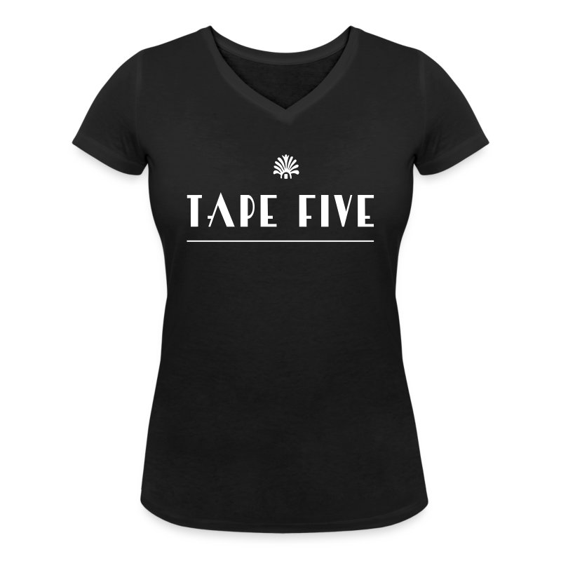 TAPE FIVE branding white, female - Women's V-Neck T-Shirt