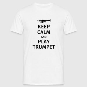 keep calm and play trumpet Koszulki - Koszulka męska