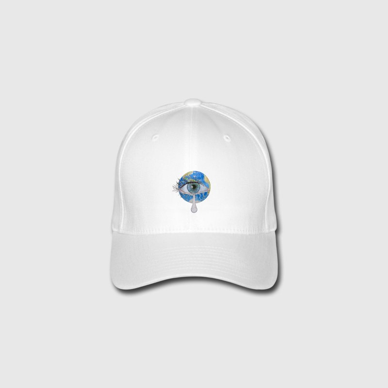 Planet earth crying Caps & Hats - Flexfit Baseball Cap