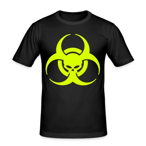 Danger Skull Male Slim-Fit BlackandYellow - slim fit T-shirt