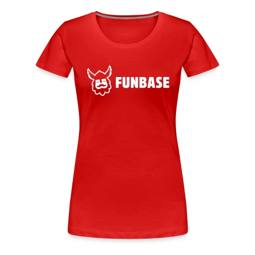 Funbase T-Shirt - White logo on multiple colors - Women - Women's Premium T-Shirt