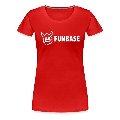 Funbase T-Shirt - White logo on multiple colors - Women - Women's Premium T-Shirt