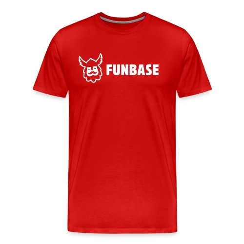 Funbase T-Shirt - White logo on multiple colors - Men - Men's Premium T-Shirt