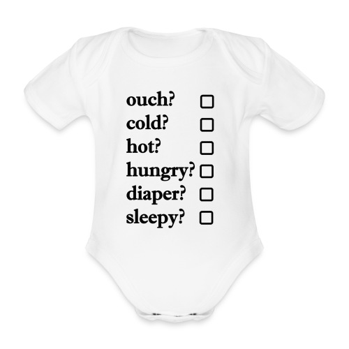 Baby check list - Baby Bio-Kurzarm-Body