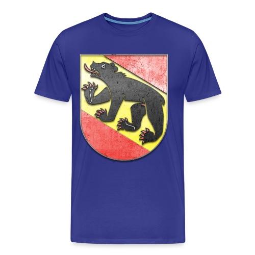 Schweiz Bern Wappen in Stein gemeißelt - Männer Premium T-Shirt