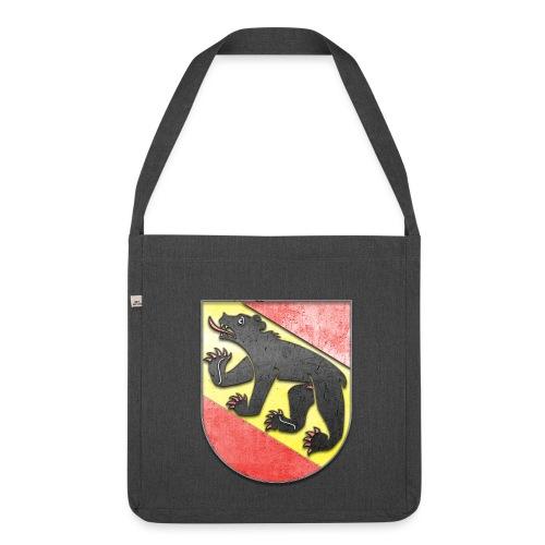 Schweiz Bern Wappen in Stein gemeißelt - Schultertasche aus Recycling-Material