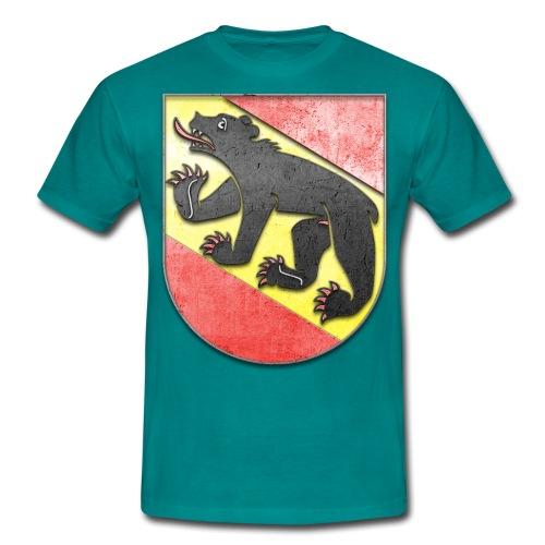 Schweiz Bern Wappen in Stein gemeißelt - Männer T-Shirt