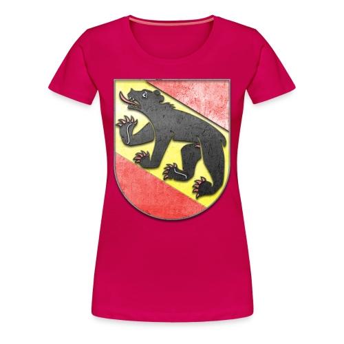 Schweiz Bern Wappen in Stein gemeißelt - Frauen Premium T-Shirt