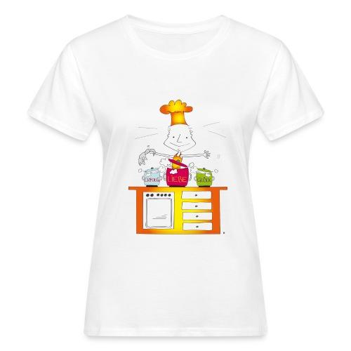Der kleine Coach Erfolgskoch des Glücks - für Frauen - Frauen Bio-T-Shirt