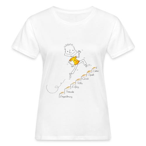 Der kleine Coach Die Treppe des Glücks - für Frauen - Frauen Bio-T-Shirt