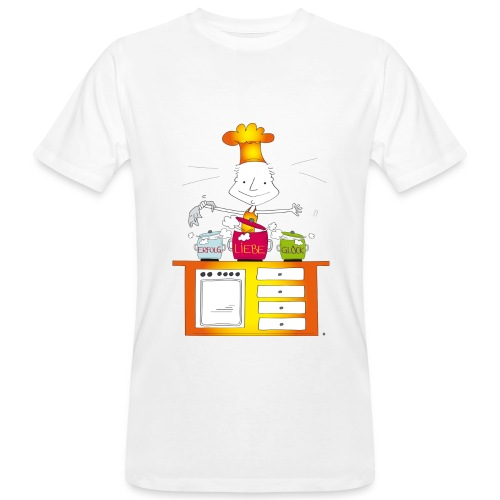 Der kleine Coach  Erfolgskoch des Glücks für Männer - Männer Bio-T-Shirt