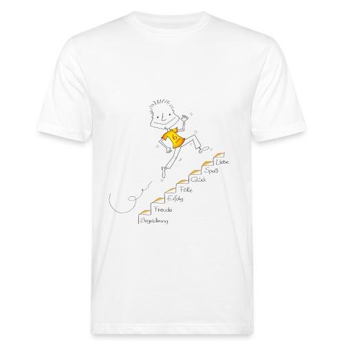 Der kleine Coach Die Treppe des Glücks für Männer - Männer Bio-T-Shirt