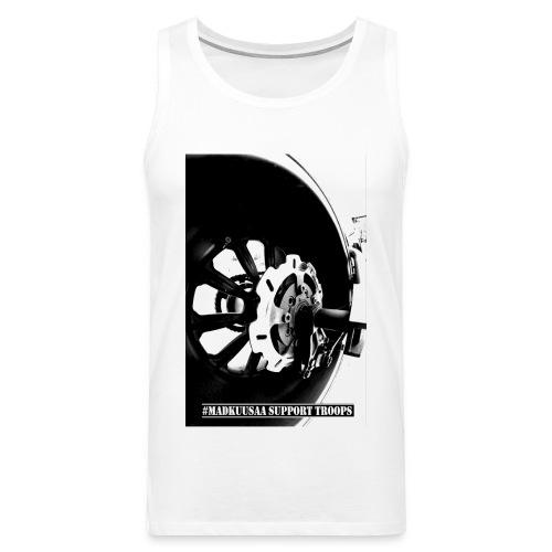 Destroyer MEN sleeveless WHITE - Miesten premium hihaton paita