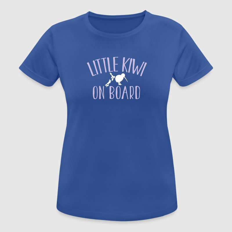 Little KIWI on board funny New Zealand Pregnancy  T-Shirts - Women's Breathable T-Shirt