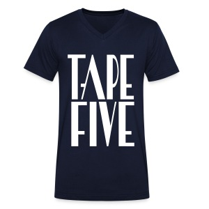 TAPE FIVE logo grande, male - Men's Organic V-Neck T-Shirt by Stanley & Stella