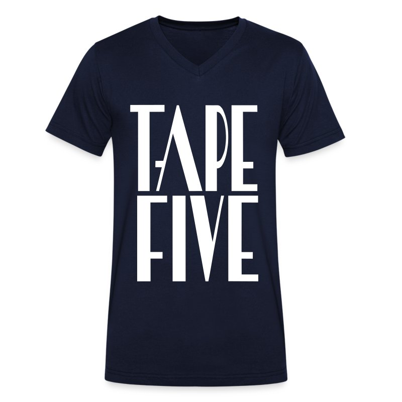 TAPE FIVE logo grande, male - Men's V-Neck T-Shirt