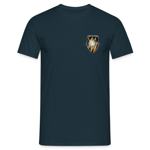 Platoon T-Shirt Chest Shield FRONT and BIG shield BACK - Men's T-Shirt