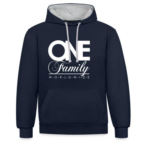ONE Family - Kontrast-Hoodie