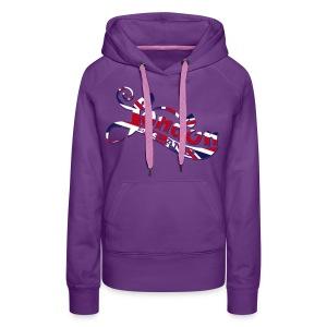 London England Samtaufdruck - Frauen Premium Hoodie