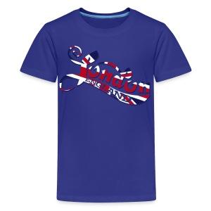 London England Samtaufdruck - Teenager Premium T-Shirt
