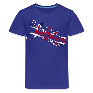 London England Samtaufdruck - Teenager Premium T-Shirt