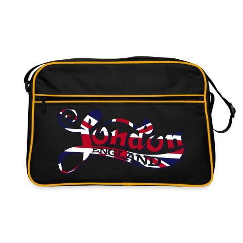 London England Samtaufdruck - Retro Tasche