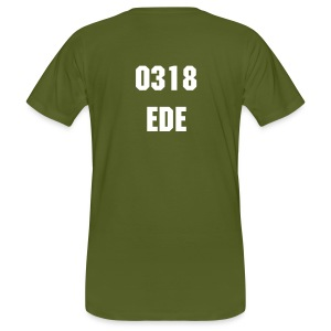 0318 EDE BIO COTTON white print - Mannen Bio-T-shirt