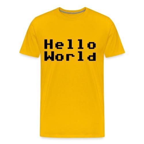 Hello! - Premium T-skjorte for menn