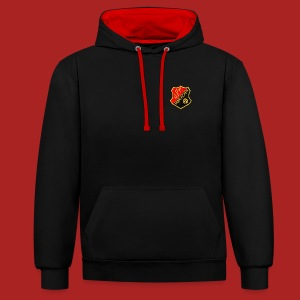 black and red hoodie - Kontrast-Hoodie