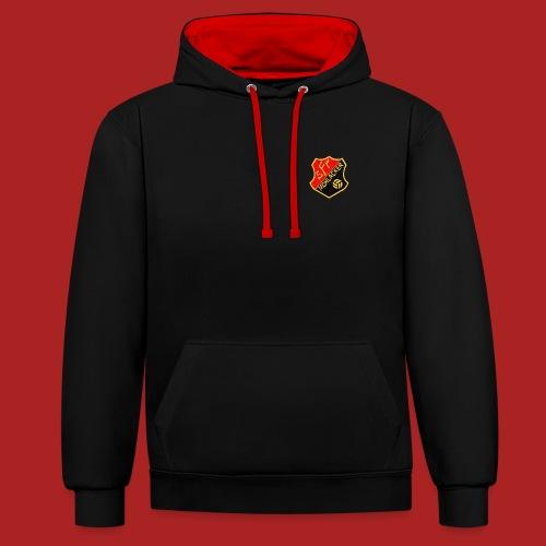 black and red hoodie - Kontrast-Hoodie
