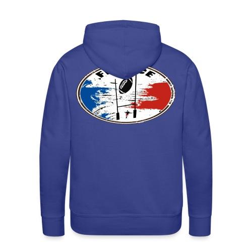 sport rugby france - Sweat-shirt à capuche Premium pour hommes