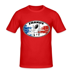 France sport rugby - Tee shirt près du corps Homme