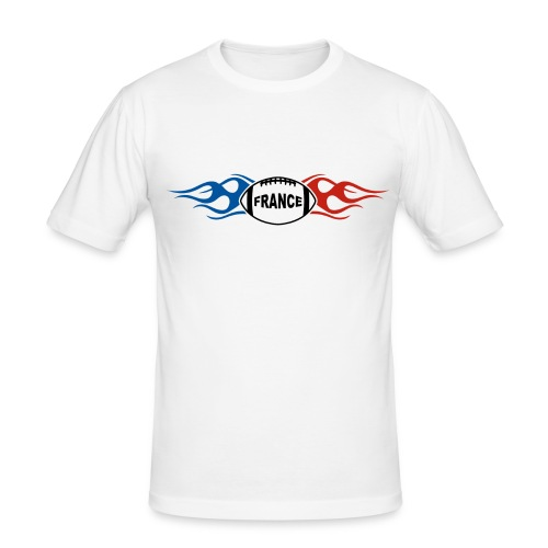 France sport rugby flaming - T-shirt près du corps Homme